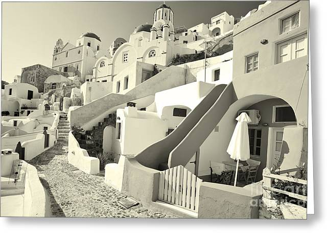 Greeting Card featuring the photograph Cycladic Style Houses by Aiolos Greek Collections