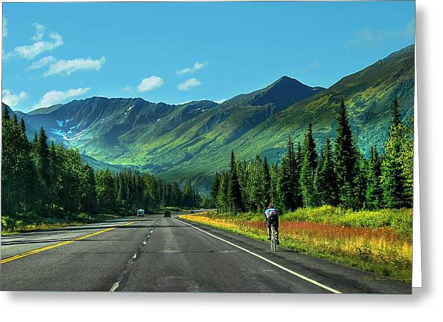 Cycling In Denali   Greeting Card by Dyle   Warren