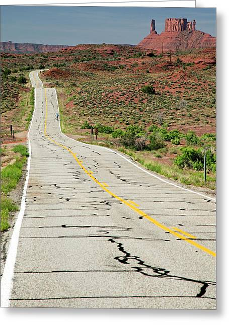 Cycling On Route 128 Greeting Card