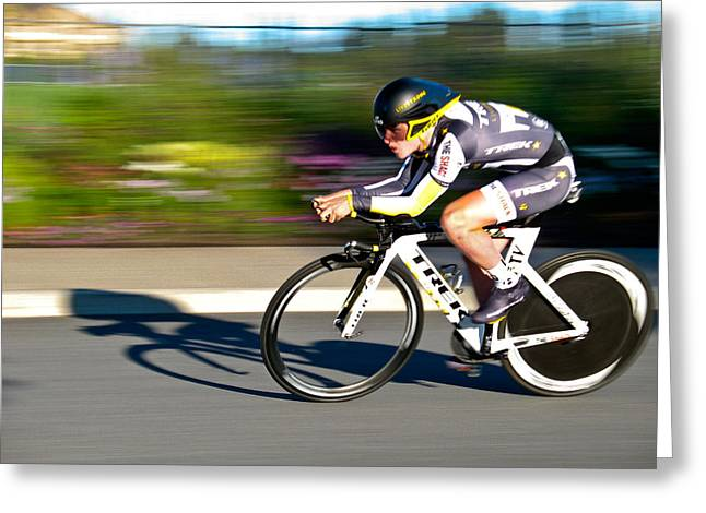 Greeting Card featuring the photograph Cycling Prologue by Kevin Desrosiers