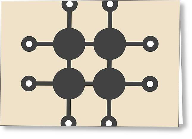 Cyclobutane Cyclic Alkane Molecule Greeting Card