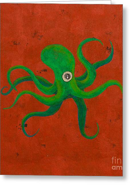 Cycloptopus Red Greeting Card