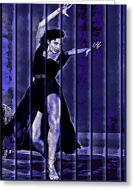 Cyd Charisse Blues II Greeting Card