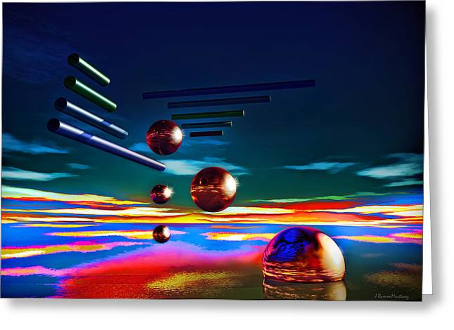 Cylinders And Spheres Greeting Card by Ramon Martinez