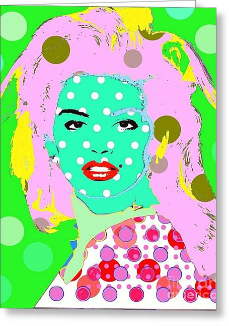 Cyndi Crawford Greeting Card by Ricky Sencion