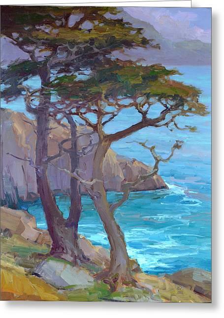 Cypress Point Greeting Card by Tonya Zenin