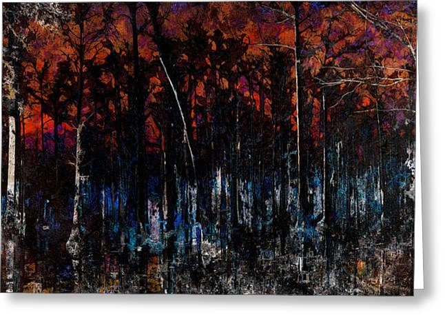 Cypress Swamp Abstract #1 Greeting Card