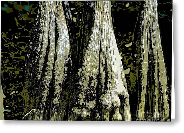 Greeting Card featuring the photograph Cypress Three by Sally Simon