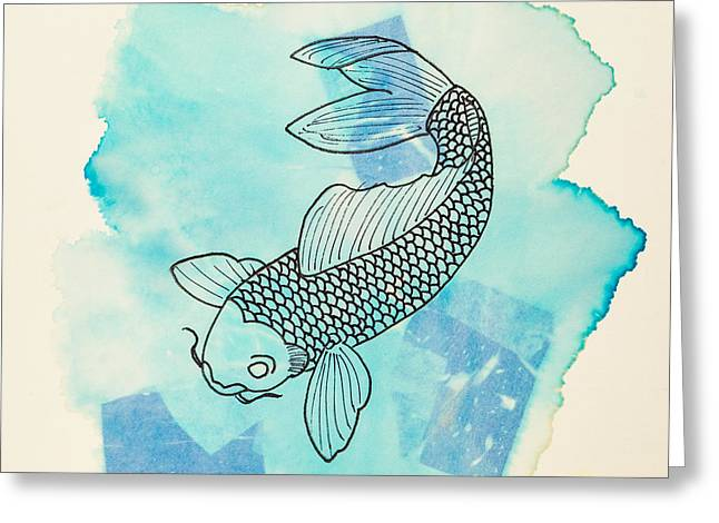 Cyprinus Carpio Greeting Card