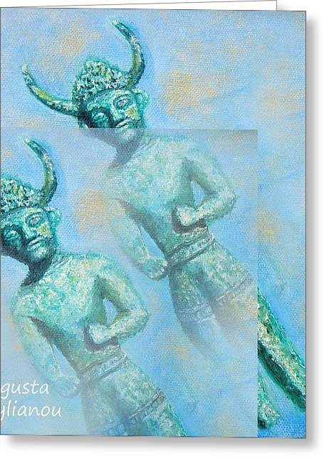 Cyprus Gods Of Trade. Greeting Card by Augusta Stylianou