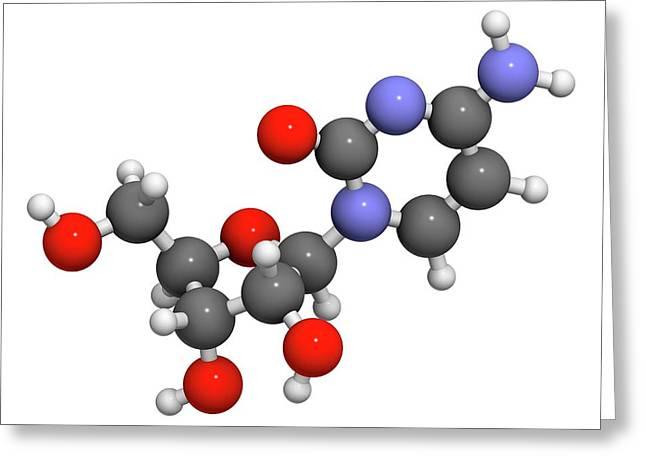 Cytidine Molecule Greeting Card by Molekuul