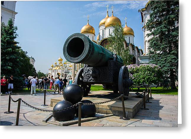 Czar Cannon Of Moscow Kremlin - Featured 3 Greeting Card by Alexander Senin