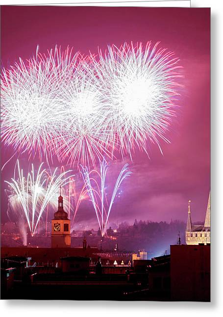 Czech Republic, Prague - New Years Greeting Card by Panoramic Images