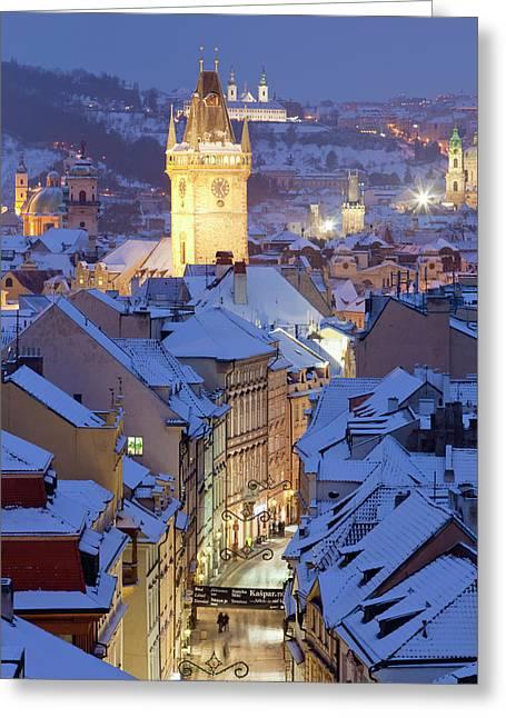 Czech Republic, Prague - Old Town Hall Greeting Card
