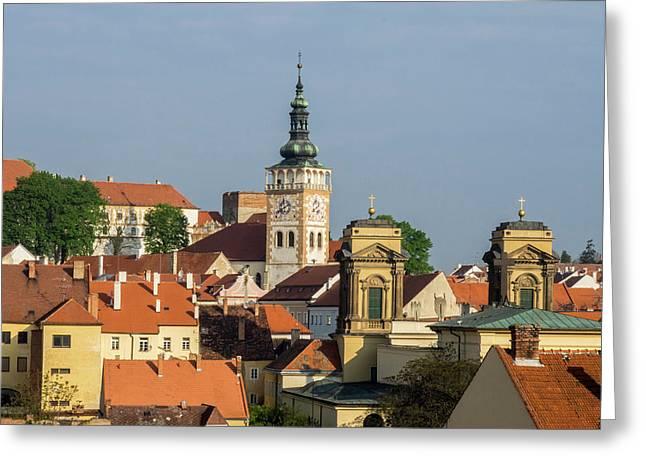 Czech Republic, South Moravia, Mikulov Greeting Card