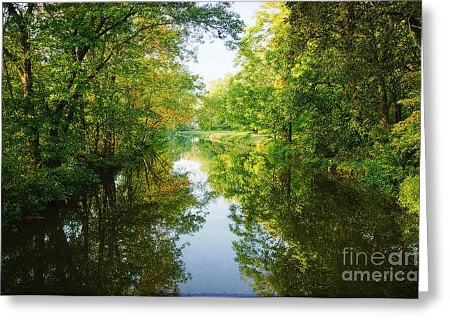 D And R Canal  Greeting Card by Debra Fedchin