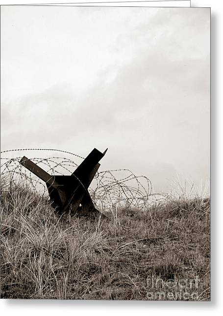 D Day Beach Greeting Card by Olivier Le Queinec