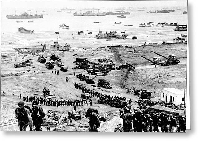 D-day Landings Beachhead Greeting Card by Us Army