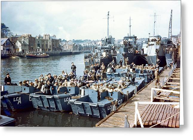 D-day Landings Preparations Greeting Card by Us Coast Guard