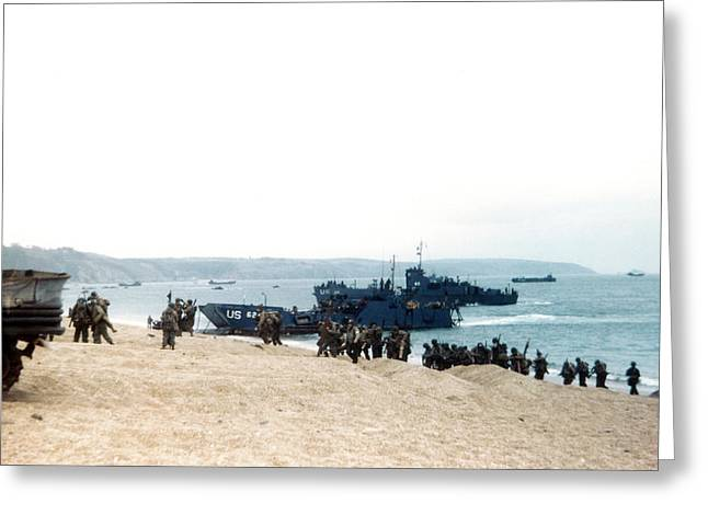 D-day Practice Landing Greeting Card by Us Coast Guard