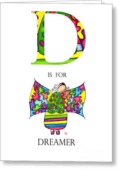 D Is For Dreamer Greeting Card