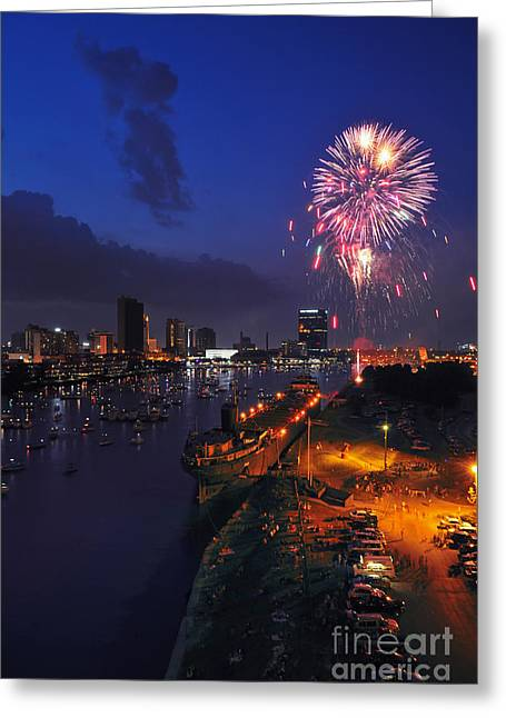 D12u470 Red White And Kaboom In Toledo Ohio Photo Greeting Card