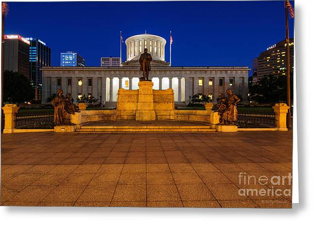 D13l112 Ohio Statehouse Photo Greeting Card