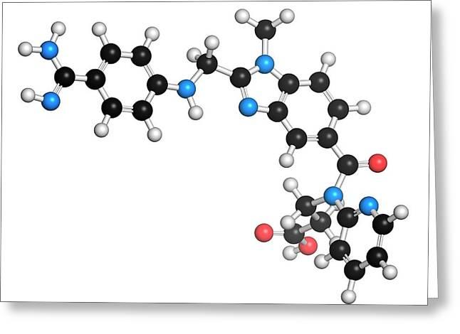 Dabigatran Anticoagulant Drug Molecule Greeting Card by Molekuul