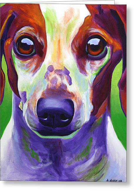 Dachshund - Cooper Greeting Card by Alicia VanNoy Call