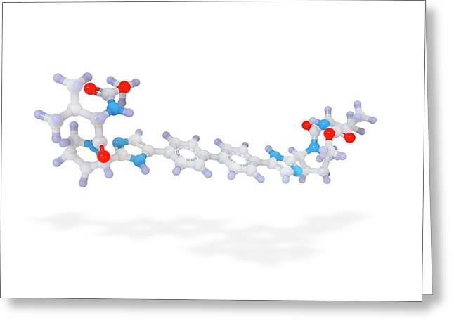 Daclatasvir Drug Molecule Greeting Card by Ramon Andrade 3dciencia