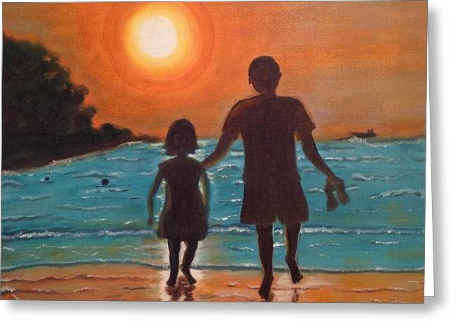 Dad And Daughter Greeting Card