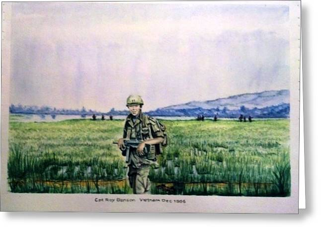 Dad In Viet Nam Sold Greeting Card by Richard Benson