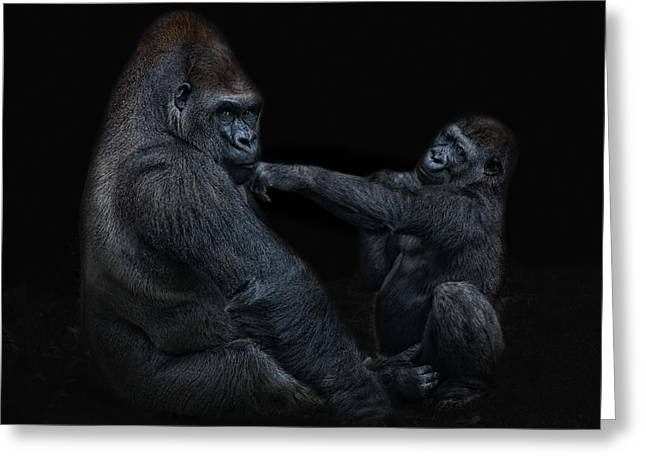 Daddy Is A Left Hook Like This Greeting Card by Joachim G Pinkawa