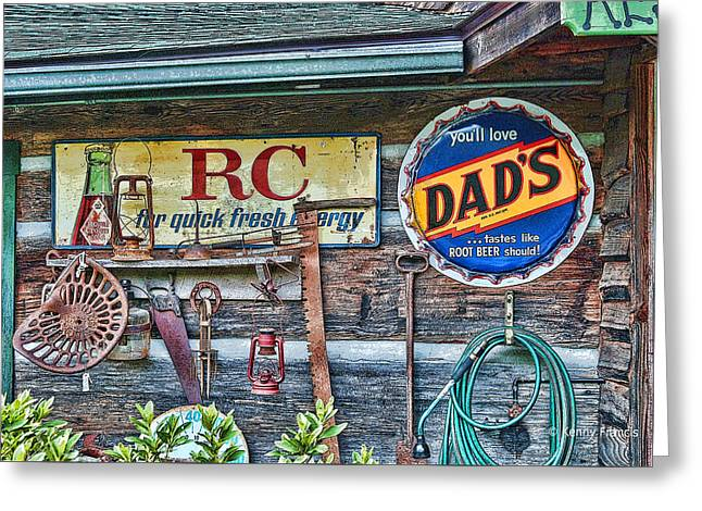 Dad's Greeting Card by Kenny Francis