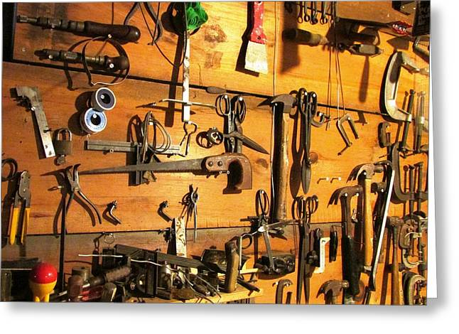 Dads Tools Greeting Card by Will Boutin Photos