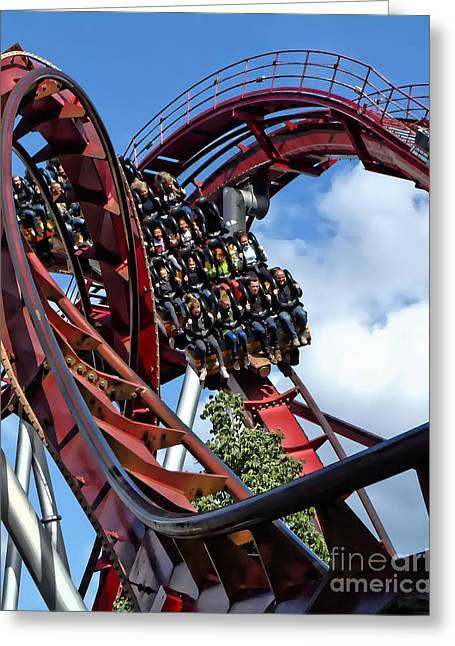 Daemonen - The Demon Rollercoaster - Tivoli Gardens - Copenhagen Greeting Card
