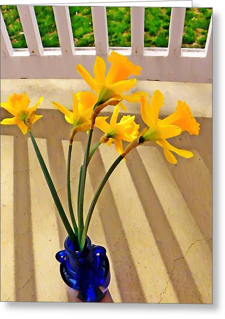 Daffodil Boquet Greeting Card by Chris Berry