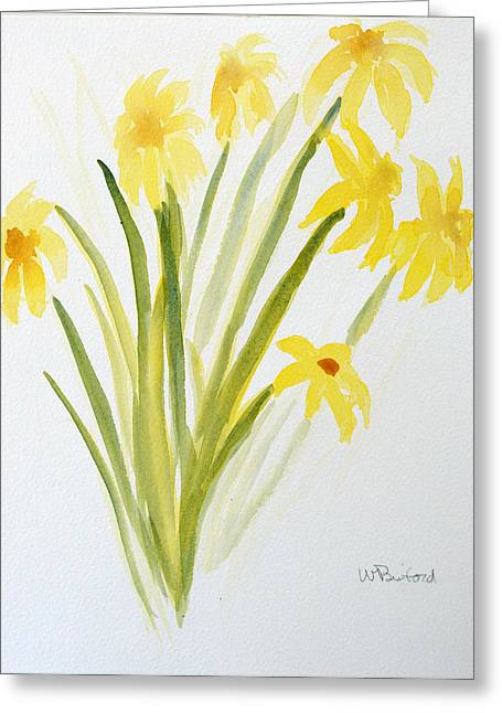 Daffodils For Mothers Day Greeting Card by Wade Binford