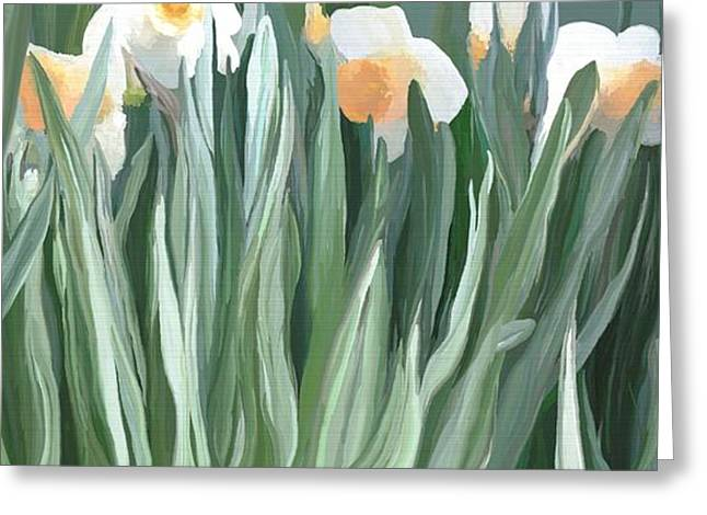 Daffodils In The Midst Greeting Card