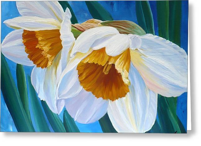 Daffodils Narcissus Greeting Card