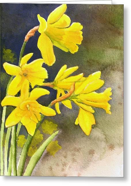 Daffodils Greeting Card by Rick Huotari