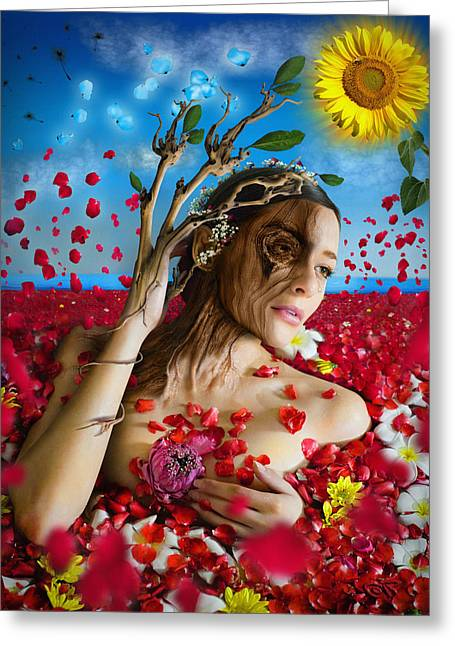 Dafne   Hit In The Physical But Hurt The Soul Greeting Card