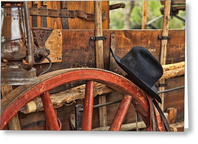 Dagnabbit Where Is My Hat Greeting Card by Toni Hopper
