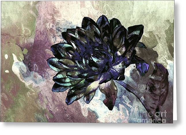 Greeting Card featuring the digital art Dahlia Art by Shirley Mangini