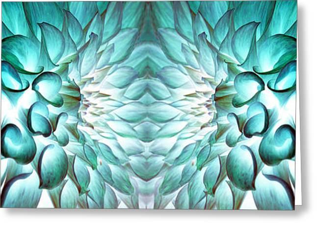 Dahlia Flower Art Greeting Card by Sumit Mehndiratta