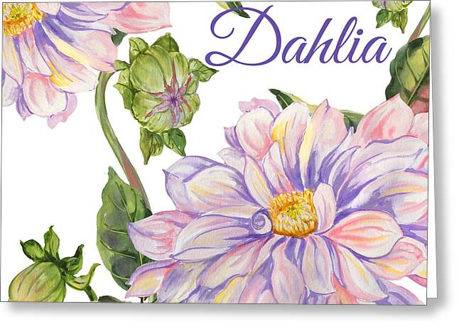 Dahlia-jp2593 Greeting Card by Jean Plout