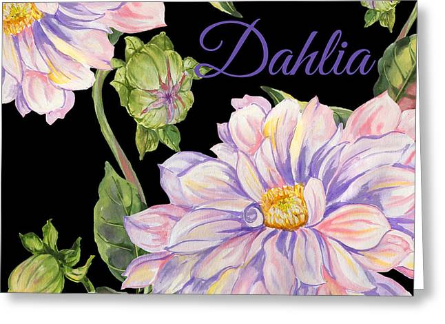 Dahlia-jp2603 Greeting Card by Jean Plout