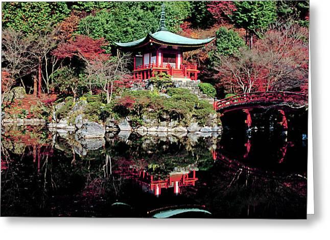 Daigo-ji Temple In Autumn, Fushimi-ku Greeting Card by Panoramic Images