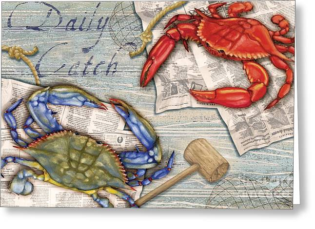 Daily Catch Crabs Greeting Card by Paul Brent