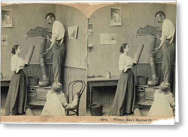 Daily Life Chores, C1897 Greeting Card by Granger
